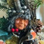 Winter Bird Woman - close up